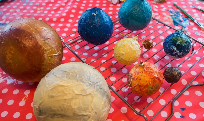 how to build a paper mache solar system