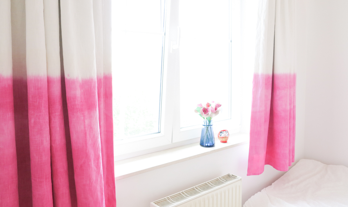 Diy Dip Dyed Curtains