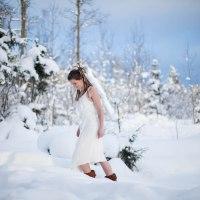 My model is knee deep in snow!